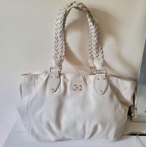 Michael Kors White Leather Tote Bag